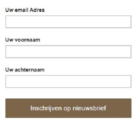 Nieuwsbrief formulier