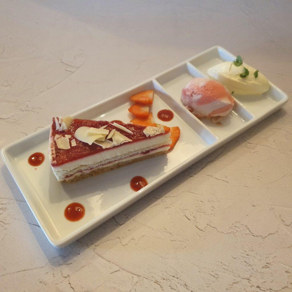 Aardbeien cheesecake dessert